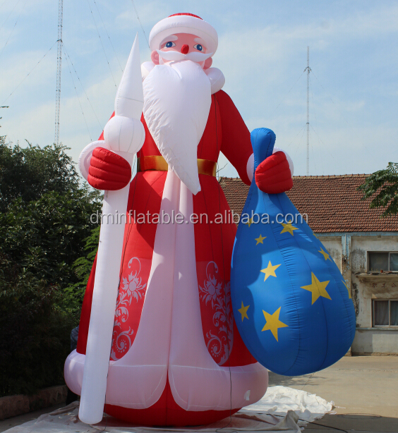 20ft Christmas inflatable Old World Santa Claus with gift bag for Decoration