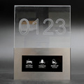 Latest New Crystal Acrylic Hotel Room Service Hotel DND Doorbell with room Number