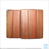 Wood Grain Classical Retro Leather Stand Case Cover For iPad 5