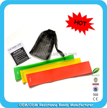 "RB-003E HOT SALES!Instock 10""x2"" 3 Loop Bands for Exercise,stretch bands loop"