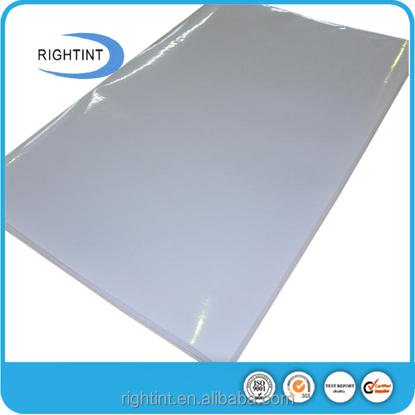 Glossy white pvc self adhesive backed rubber sheet raw material