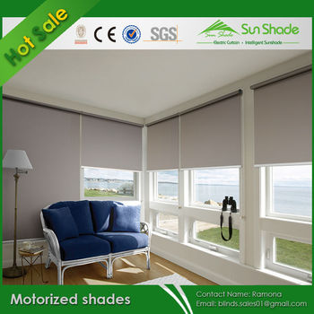 Diy blackout motorized roller shades electric roller for Motorized blackout roller shades