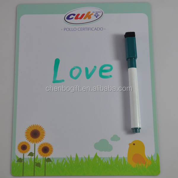 excellent china manufactuer white kids magnetic writing board with pen