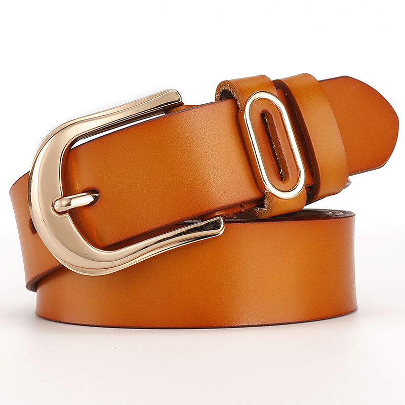 Hot Selling New Style Genuine Leather Ladies Belts for Women Wholesale Real Leather Blet for Women