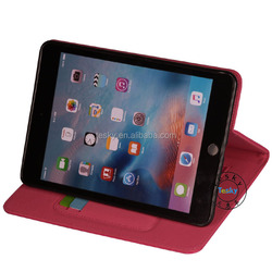 For apple iPad mini 4 Leather Case with Wallet and Stand Function,high quality leather case