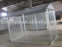 Iso 9001 approved galvanized pet house dog kennel, dog house with top cover