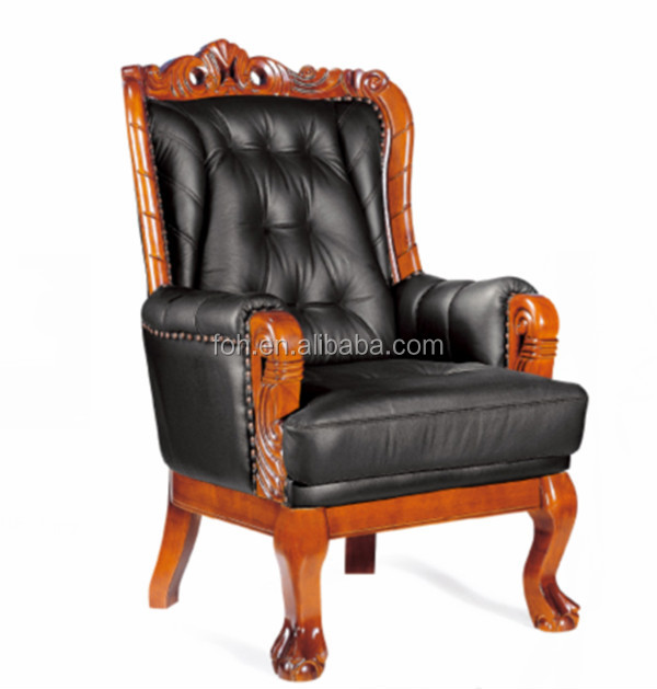 Baroque Real Leather King Throne Chair (FOH-A09)