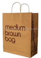 Brown kraft twisted handle large luxury shopping paper bag