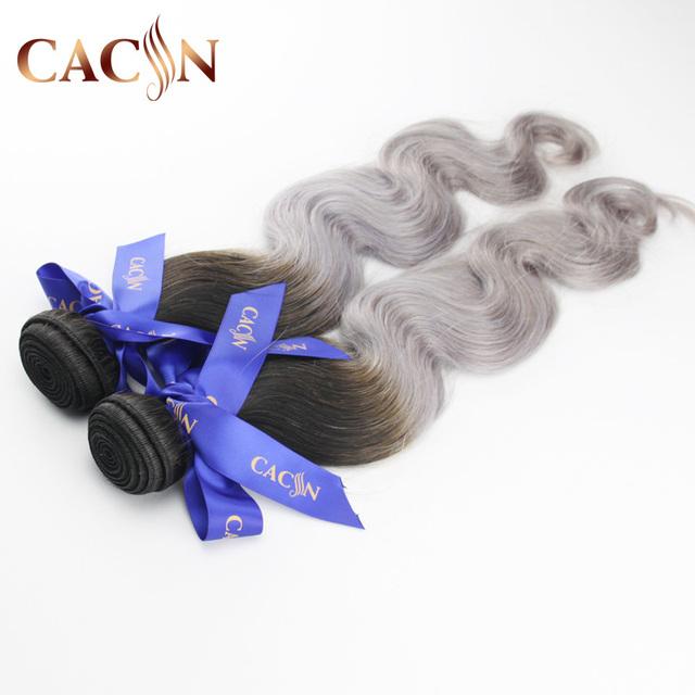 China supplier drak black tow tone 27 piece hair weave grey