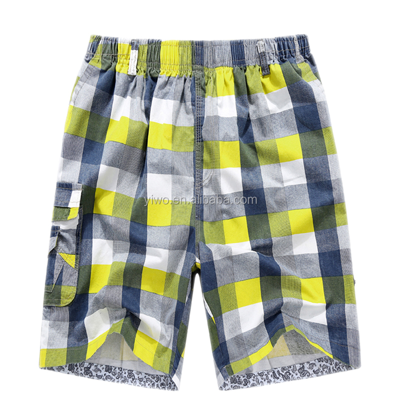 Heavy cotton checked beach Boys cargo shorts