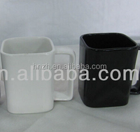 large ceramic square coffee mugs with square shape handle
