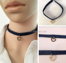 Stoyuan Wholesale Metal Alloy Enamel Heart Shape Pendant Choker Heart Necklace