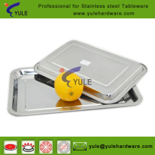 BBQ kitchen camping stainless steel square tray /plate many sizes offer