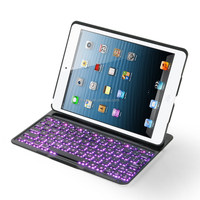 High Quality Silicone Bluetooth Keyboard for iPad Air Tablet PC Leather cover