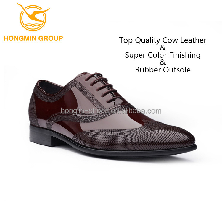 fashion shinny genuine cow leather men shoes wholesale branded oxford man dress shoe