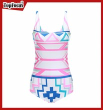 Distribution supply fashion cover-up beachwear crotchless swimwear one piece