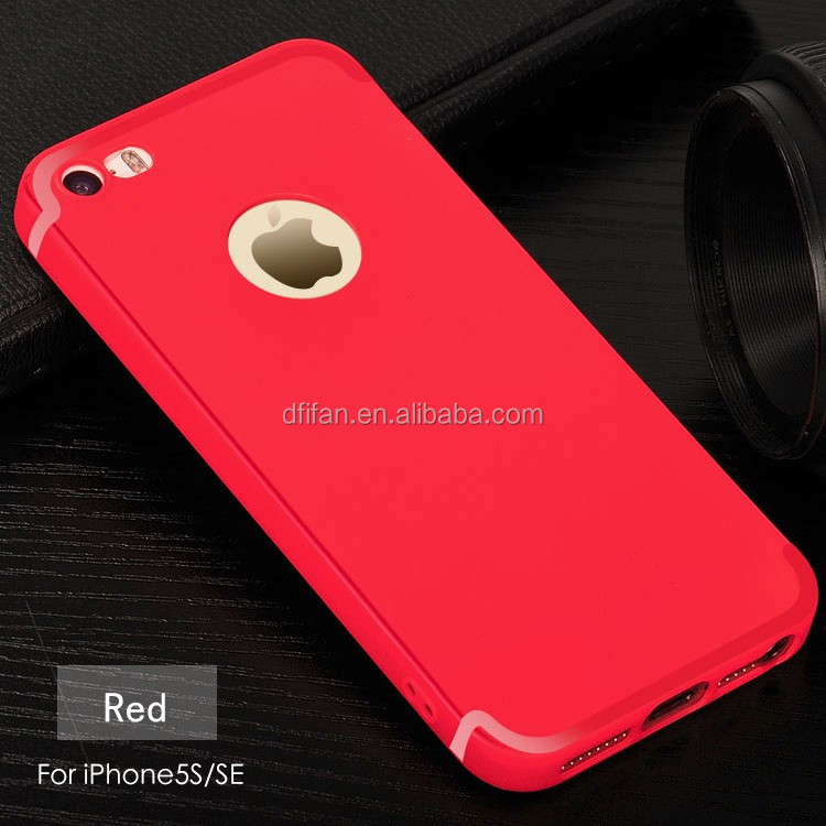 Solid Color Frosted Soft Flexible TPU Case for iphone5 5s SE Slim TPU Mobile Phone Case cover