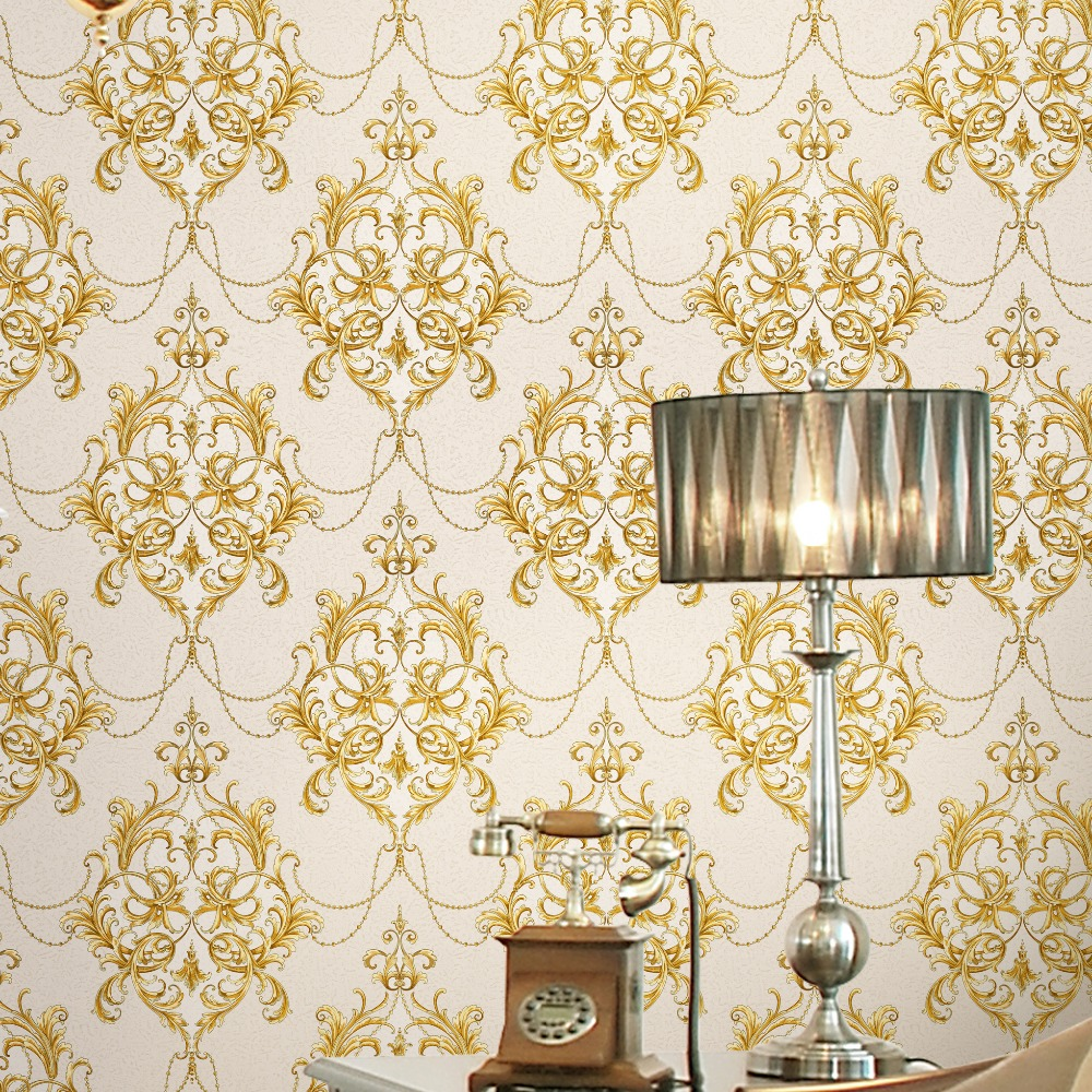 RS751 Wholesale Damask 106cm Wall paper for Home Decoration