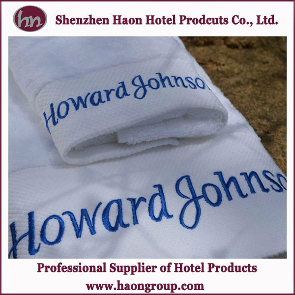 Luxury Hotel Customized promotional Black and white Stripes beach towels
