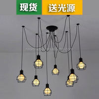 Scandinavian retro Loft Restaurant Industry The heavenly maids scatter blossoms. clothing store small cage Chandelier