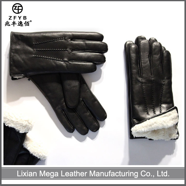 ZF5559 wholesale winter man garment dressing leather gloves