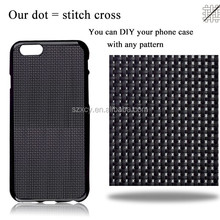 perfect decoration custom DIY cross stitch phone case for iphone 6 6s Plus 5.5inch