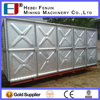 Hot Pressed Molded Galvanized Steel Water Tank For Agriculture