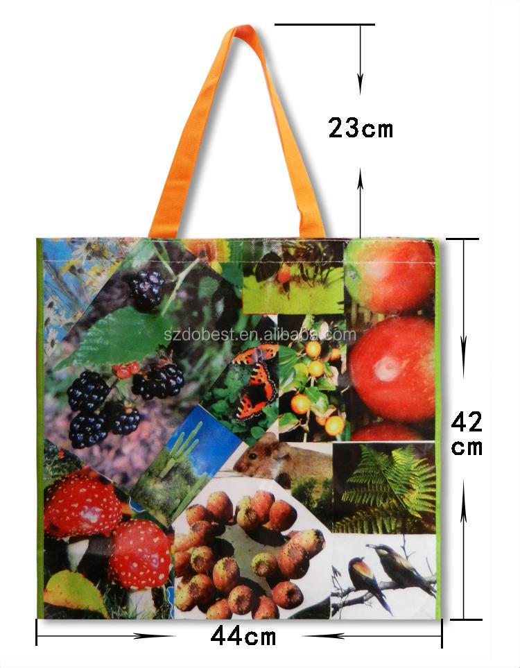Promotional Latest Arrival Good Quality Eco-friendly cut handle pp woven shopping bag