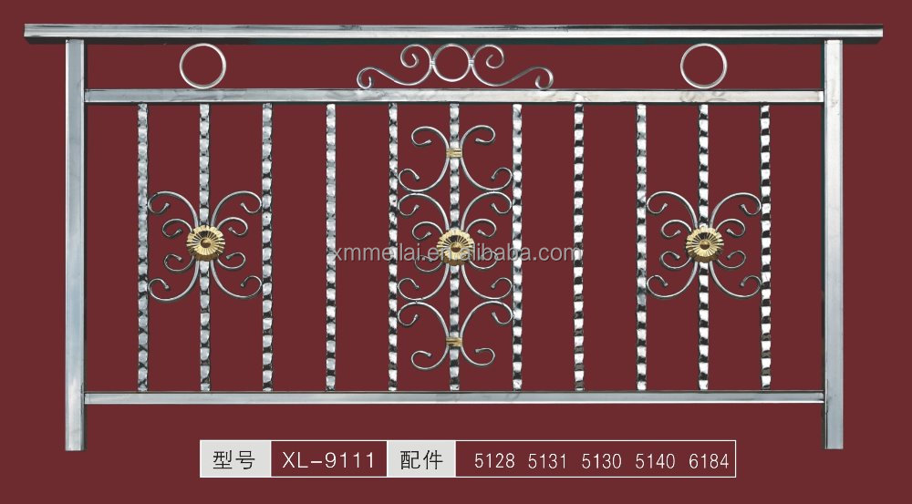 Stainless Steel Outdoor Railing / Balcony Guard Rail Panel