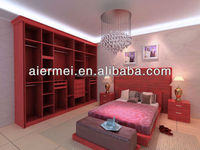 hotel closet Classical solid wooden living room furniture bedroom wooden wardrobe