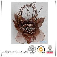 home decorative artificial flowers, hand made hair flowers