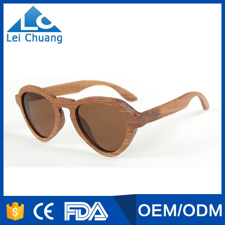 wholesale high quality heart shape wooden sunglasses <strong>bamboo</strong> hand-made