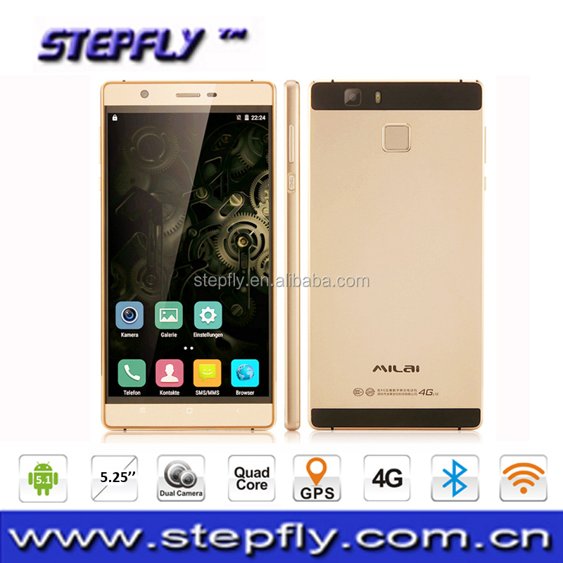 New Arrival Milai M6 Plus Mobile Phone 4G LTE Slim Metal Body Smartphone 5.25 Inch 2G+16GB Android 5.1 Quad Core