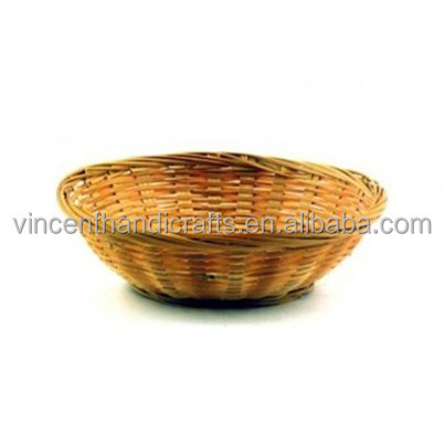 Household daily cheap bamboo fruit basket handmade storage basket