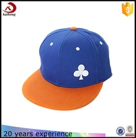 China Two Tone Embroidery Formal Hat Flat Brim Snapback Cap