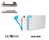 Most popular slim mobile power bank 2000