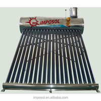 Integrated Pressurized Solar Water Heater with copper heat pipe