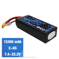 22.2v 12400mah 6s lipo battery li-ion polymer battery with best price