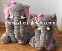 hot style children's elephant doll back cushion pillow super soft plush toys baby pillows waist pillow