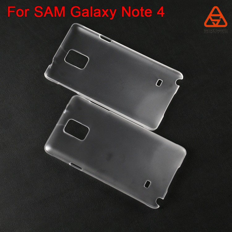For SAM Galaxy Note 4 PC clear transparent case blank black white color 2D 3D sublimation case