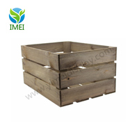 Wholesale custom unfinished clear paint art craft cheap wooden crate