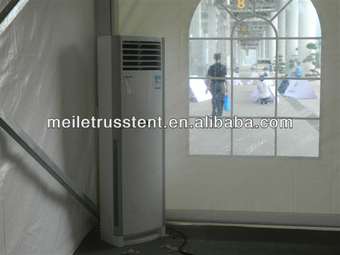closed aluminum structure tent with ac for meeting reception
