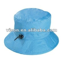 Folding Rain Hat Waterproof Rain Hat Bucket Hat with Adjustable String