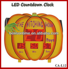 pumpkin countdown clock. LED clock