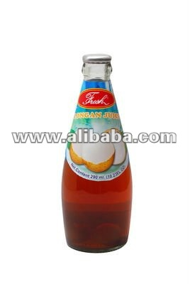 Longan Juice in glass bottle 290 ml.