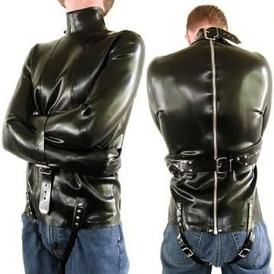 100% Latex Straight-jacket Two Adjustable Straps Above Each ...