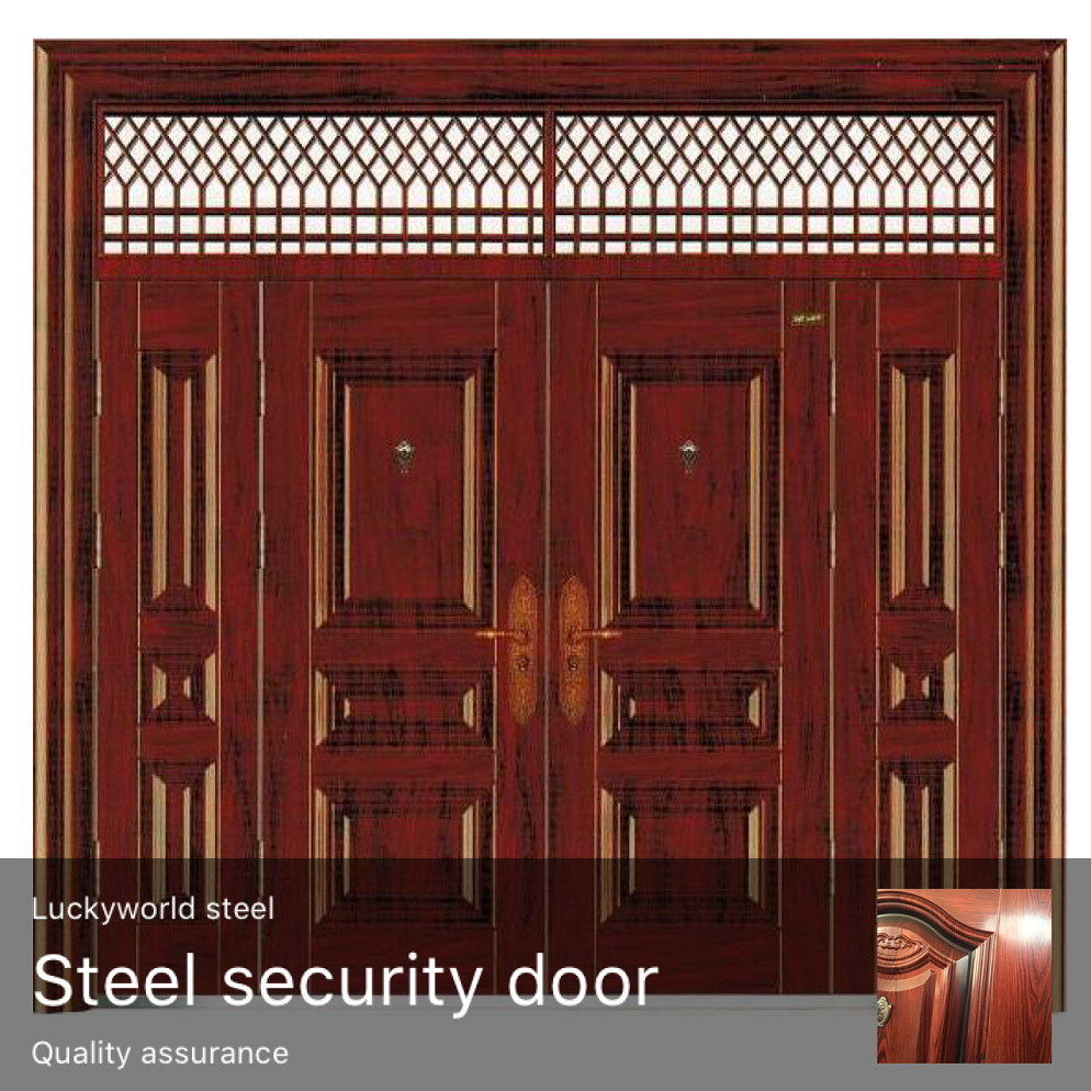 Factory direct sales Cheap door leaf 70mm thickness 0.5mm Steel Security Door