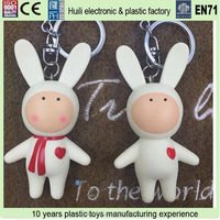 3D soft rubber pvc keychain, Promotional oem cheap plastic keychain, custom design shaped soft pvc keychain