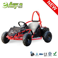 2015 new 1000w 36v 4 wheel racing adult pedal go kart with double suspension past CE certificate