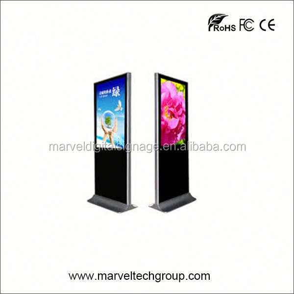 55 Inch Stand Alone Marvel Good Quality bus advertising kiosk shell